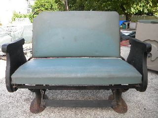 1900 ' S Pullman Passenger Railroad Car Reversible Bench Seat In Excellent Cond photo