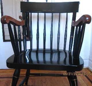 1920 Antique Nichols & Stone Dartmouth College Arm Chair photo