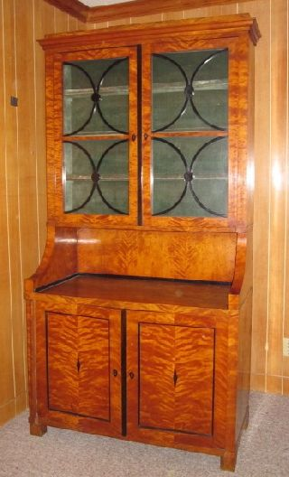 Auth Antique Biedermeier China Cabinet - photo
