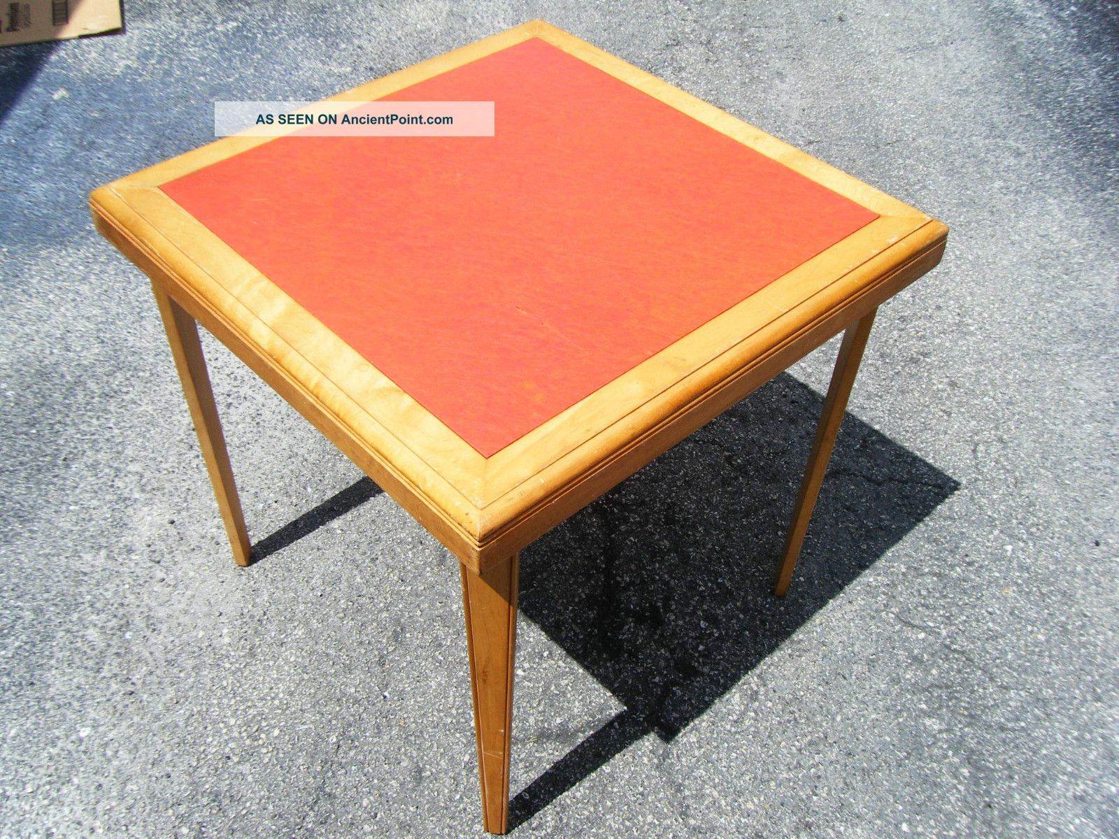 Card Table - Vintage Stakmore Aristocrats Of Folding Furniture - 1930 ' S Deco 1900-1950 photo