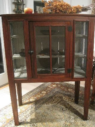 Antique 1800s Folk Art Hand Made Shoo Fly Pie Safe Cupboard Screened Cabinet photo