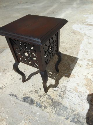 & Petite Vintage Mahogany Plant Stand Side Wine Table From Scotland photo