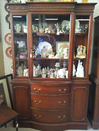 Mahogany China Cabinet photo