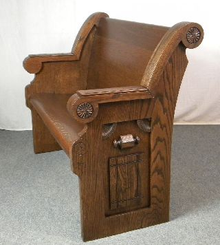 Antique Eastlake Church Pew photo