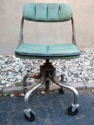 Do More - Machine Age Industrial Office Task Chair Stool Steampunk photo
