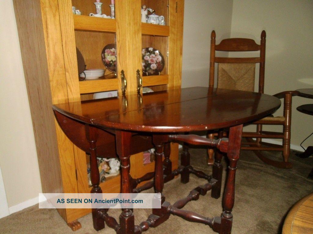San Francisco Estate Bought Antique Gateleg Table 1800-1899 photo