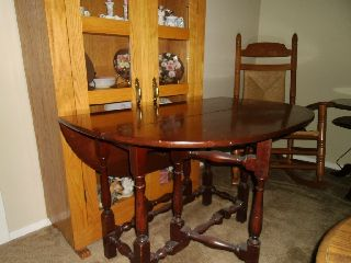 San Francisco Estate Bought Antique Gateleg Table photo