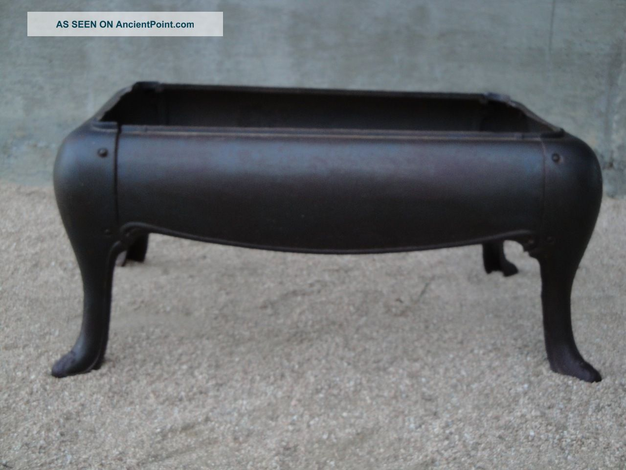 Antique Cast Iron Stove Base Bench Or Table 1800-1899 photo