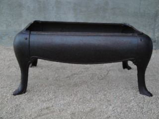 Antique Cast Iron Stove Base Bench Or Table photo