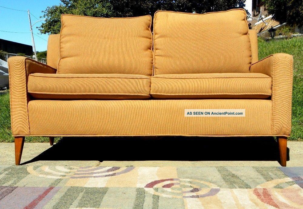 sofa walnut legs mid century modern