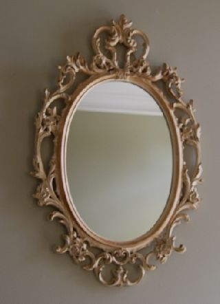 Vintage Ornate Syroco Wall Mirror photo