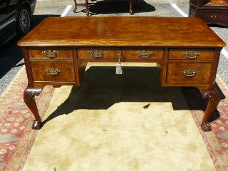 Hekman Grm Circassian Walnut Chippendale Ball & Claw Office Desk photo