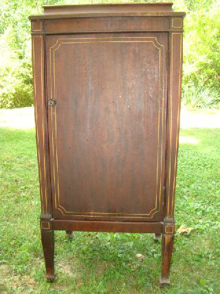 Antique Sheet Music Cabinet Walnut Herrzog Art Furniture Saginaw Mi ~greyhound photo