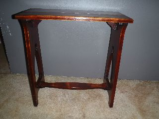 Antique Silk Oak Art Nouveau Plant Stand Or Hall Table Magnificent Look photo