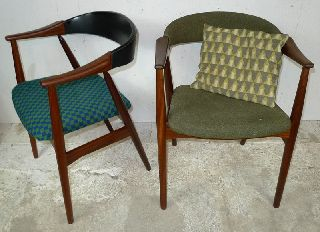 Modern Danish Design - Two X Teak Armchairs - 6 - Eames,  Wegner Era photo