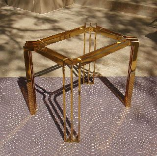 Italian Brass/glass Table - Hollywood Regency - Charles Hollis Jones/mastercraft Era photo