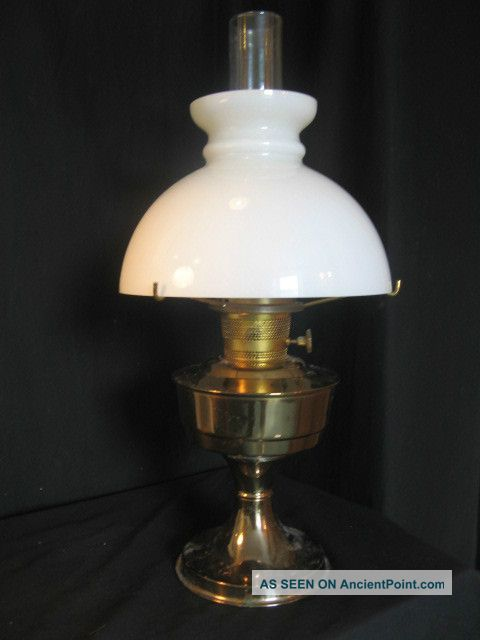 Aladdin No 23 Oil Lamp Complete With Perfect Shade 20th Century photo