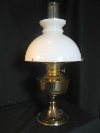 Aladdin No 23 Oil Lamp Complete With Perfect Shade photo