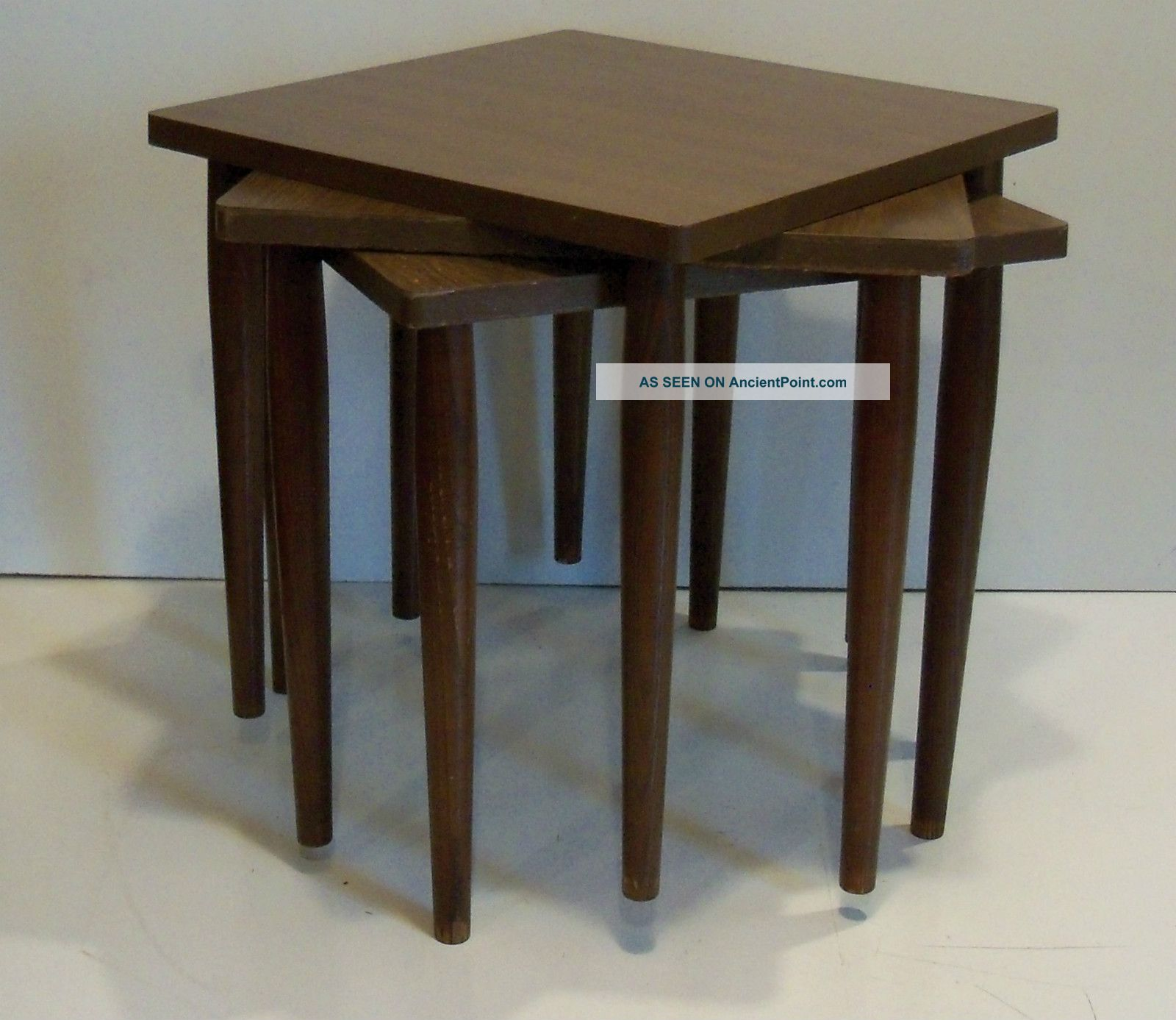 Vintage Eames Mid Century Danish Modern Stack Tables Stands Skinny Pencil Legs Post-1950 photo