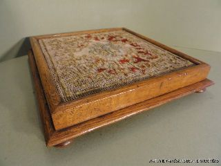Victorian Oak And Woolwork Table Stand Teapot Stand Kettle Stand photo