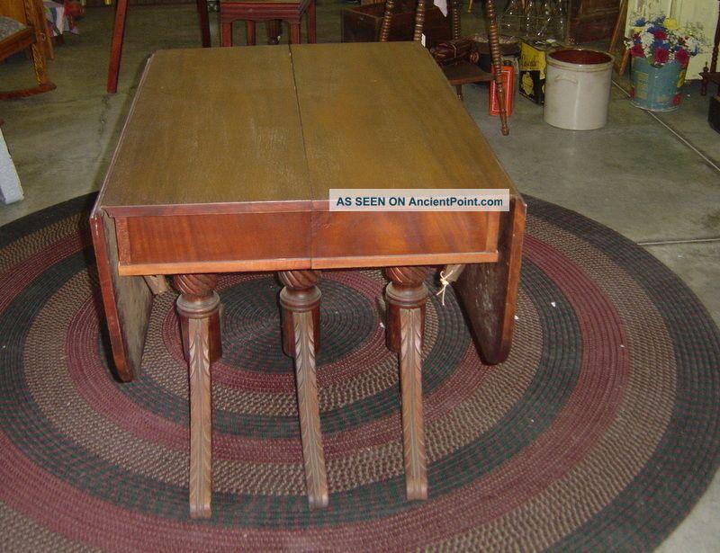 Mahogany Dining Room Table 1900-1950 photo