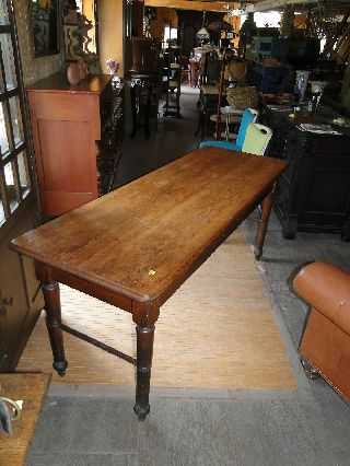 Country Farm Table With 2 Board Top photo