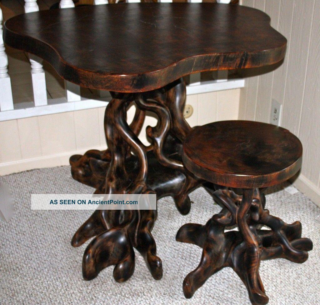 Unique Rosewood Table 1900-1950 photo