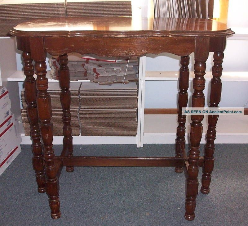 Antique Wood Console Table Hall Accent Sofa 1900-1950 photo