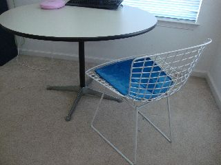 Mid Century Vintage Knoll Harry Bertoia Side Chair photo