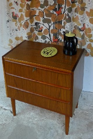 Modern Danish Design - Teak Chest Of Drawers - Panton,  Eames Era photo