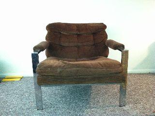 Milo Baughman Flat Chrome Lounge Chair photo