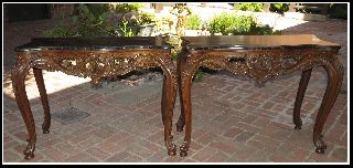 Pair Of French Louis Xv Style Console Tables From Nolan Miller ' S Estate photo