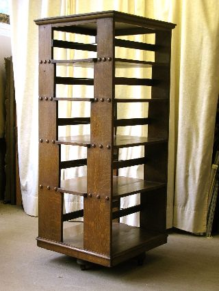 Arts And Crafts,  Mission Oak Revolving Bookcase photo