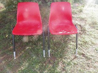 Vintage Mid Century Modern Chairs - Hard Plastic photo