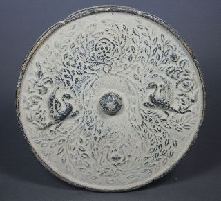 Collection Rare Chinese Old Bronze Handwork Hammered Peafowl Mirror ☆☆☆☆☆ photo