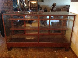 1910 Placerville General Store Display Cabinet/beautiful Beveled Top photo