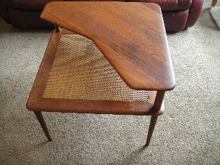 Peter Hvidt Solid Teak Side Table From France & Daverkosen Danish Modern photo