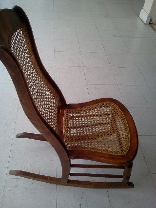 Vintage Cane Bottom Rocker Small No Arms No photo