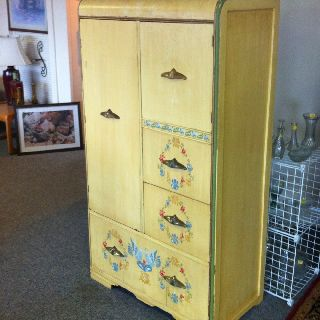 1930 ' S Waterfall Design Wardrobe Dresser. photo