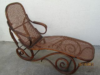 Thonet Style Bentwood Steamer Chair Circa 1890 photo