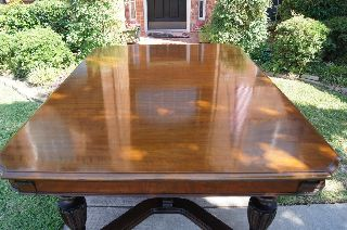 Fiddleback Walnut Antique Dining Table photo