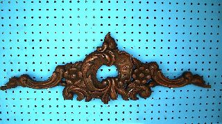 Finely Hand Carved Flower/ferns Wood Mahogany Cornice photo