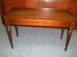 Piano Bench. . .  Solid Mahogany. . . . photo