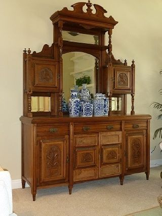 Antique English Buffet/sideboard photo