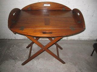 English Butlers Table With Cabinetmakers Label photo