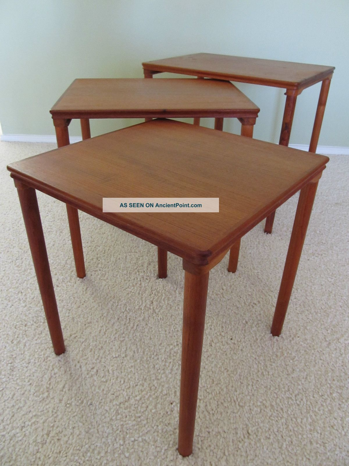 Danish Teak Nesting Tables Image Collections Table