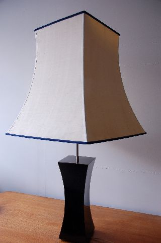 Retro Mid Century Modern French Vintage Hollywood Regency Style Large Table Lamp photo