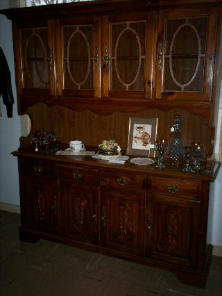 Gorgeous Pine Diningroom Hutch Cupboard photo