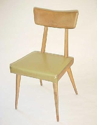 1950 ' S Birchwood Baumritter Set Of 2 Danish Modern Chairs photo