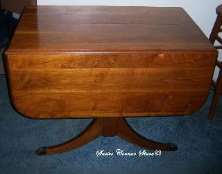 Antique Duncan Phyfe Mahogany Drop Leaf Table photo